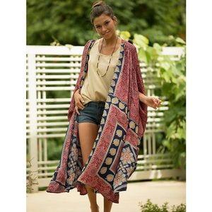 Camilla Red Ruby Print Kimono